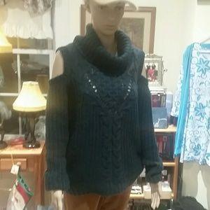 Almost famous cold should sweater euc size L